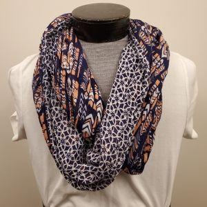 Gap reversible infinity tribal print scarf